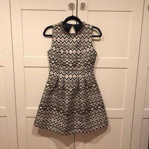Geometric printed dress, never worn